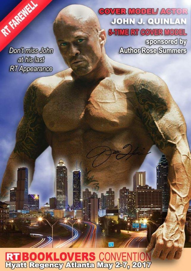 2017 RT Convention Cover Model Actor John Joseph Quinlan by Claudia Bost