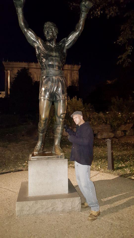 Model & Actor John Joseph Quinlan Sylvester Stallone Famous Rocky Balboa Statue